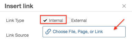 How to choose an internal link